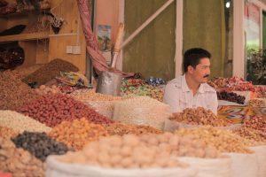 Dia 13 Vendedor Mercado Central de Kashgar