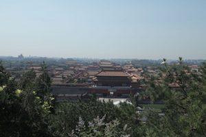 Dia 26 Vista de la Ciudad Prohibida y el horizonte de Pekin desde la Montaña del Carbon