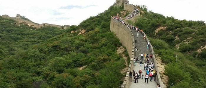 La Gran Muralla China atractivo en la visita Pekín