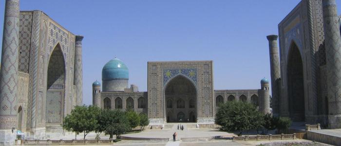 qué visitar en Samarcanda: plaza del Registán