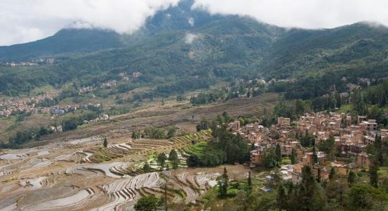 La población de Jianshui en Yunnan tiene los cutivos de arroz en terrazas más bellos del mundo