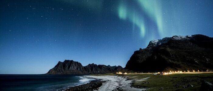 Las islas Lofoten son un estupendo lugar para ver auroras boreales