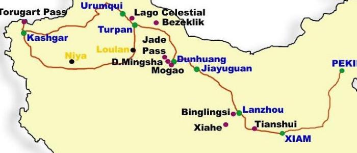 Mapa Ruta Seda China