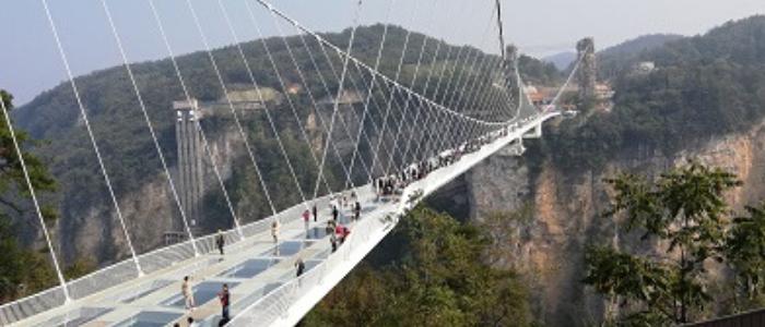 puente de cristal en Zhangjiajie