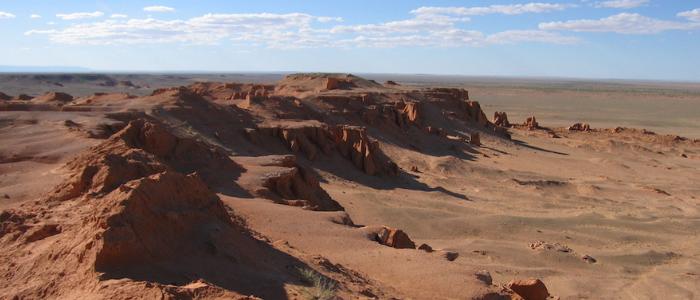 Desierto en la Ruta de la Seda en Mongolia